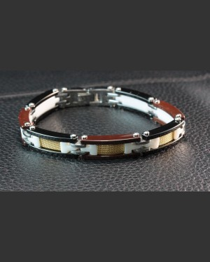 Ceramic Techno Steampunk Men's Bracelet
