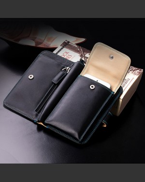 Mansoura Leather Wallet & Phone Travel Companion