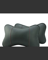 Sport Leather Car Pillows with red stitching