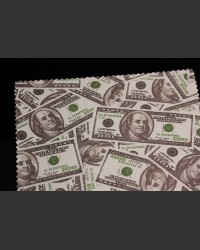 US Dollar Motif Microfiber cleaning cloth